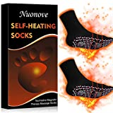 Magnetic Socks, Heated Socks, Self Heating Socks, Comfortable Breathable Magnetic Socks for Men and Women Outdoor, Winter Cold feet Camping Hiking Riding Motorcycle Warm Socks (Black)