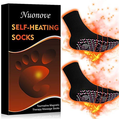 Magnetic Socks, Self Heating Socks, Magnetic Therapy Socks, Magnetic Compression Socks, Magnetic Tourmaline Socks Comfortable Breathable Massage Anti-Freezing Warm Foot Socks Outdoor, Black