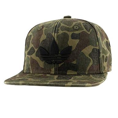 on feet images of official photos popular brand adidas Originals Trefoil Forest Camo Black OSFA Snapback Hat ...