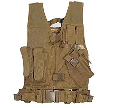 Lancer Tactical Youth Size CA-310KM Series Cross Draw Vest (KHAKI)