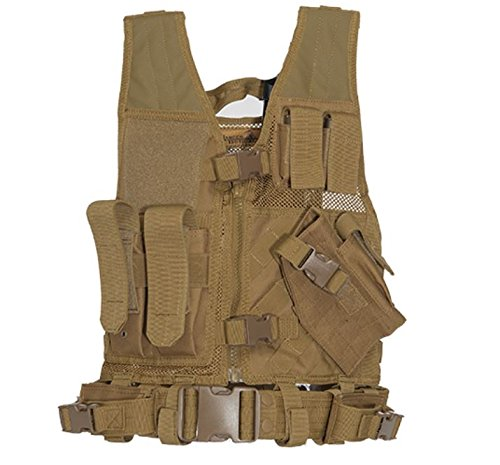 (Lancer Tactical Youth Size CA-310KM Series Cross Draw Vest (KHAKI))