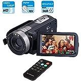 Digital Camera Camcorder, Mengyasi Mini Video Camcorder with IR Night Vision Full HD 1080P 24MP Remote Control Handy Camera 3.0