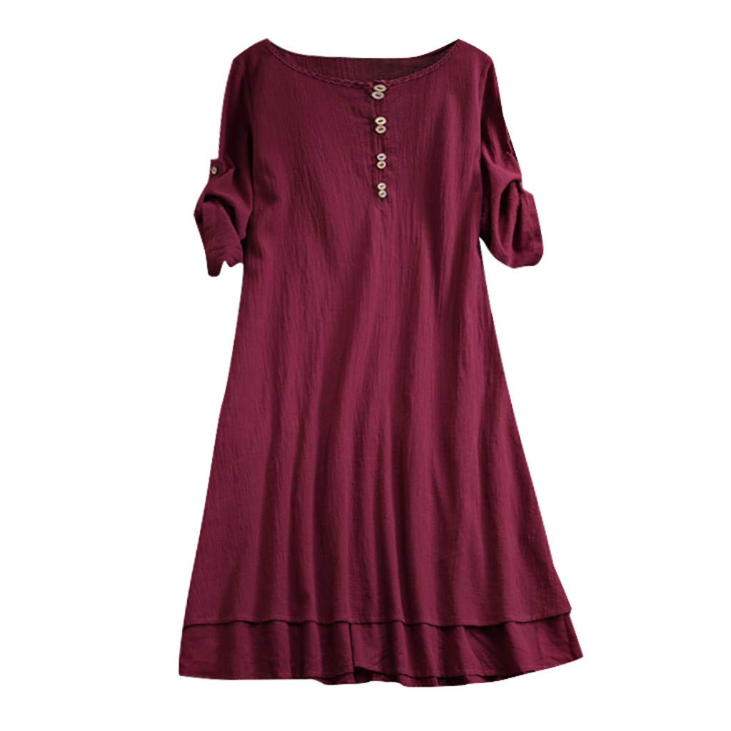 Willow S Womens Valentines Day Fashion Comfy O-Neck Casual Half Sleeve Loose Dress T-Shirts Tops Blouse