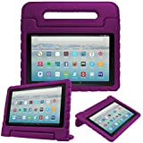 """Fintie Case for All-New Amazon Fire HD 10 Tablet (7th Gen, 2017 Release) - Kiddie Series Shock Proof Light Weight Convertible Handle Stand Kids Friendly Cover for Fire HD 10.1"""" Tablet, Purple"""