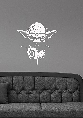 Yoda Ceramic (Yoda Vinyl Wall Sticker Decal Star Wars Art Movie Decorations for Home Living Room Bedroom Office Removable Decor sws16)