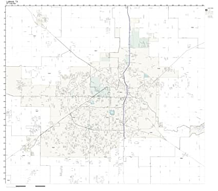 Amazon Com Zip Code Wall Map Of Lubbock Tx Zip Code Map Not