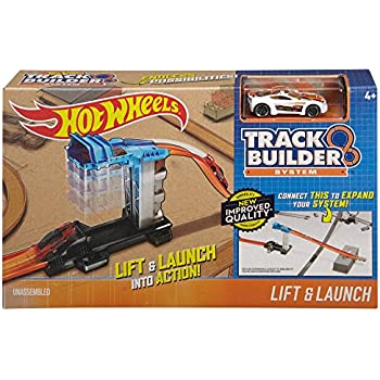 Amazon Com Hot Wheels Track Builder 2 Lane Launcher Playset Toys