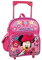 """Disney Minnie Mouse 12"""" Toddler Mini Rolling Backpack"""