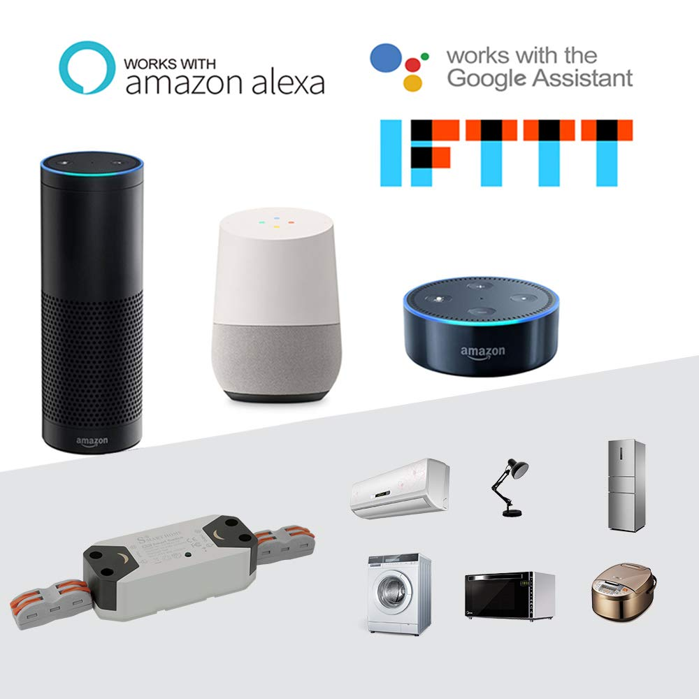FORNORM Smart Schalter WIFI, Smart Home Alexa Schalter Lichtschalter Sprachsteuerung mit Amazon Alexa und Google, APP für IOS und Android, 4 Pack