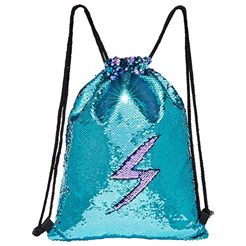 - MHJY Sequin Bag Unciorn Drawstring Bag Mermaid Backpack Sparkly Gym Dance Bag Reversible Flip Sequin Bling Backpack for Hiking Beach Travel Bags