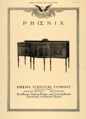 1918 Ad Sideboard Buffet Table Phoenix Furniture Co. – Original Print Ad