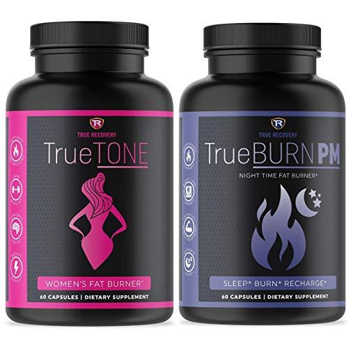 TrueTONE + TrueBURN-PM Day and Night Women's Fat Burner Bundle. Weight Loss, Appetite Suppressant, Muscle Toner, Energy…