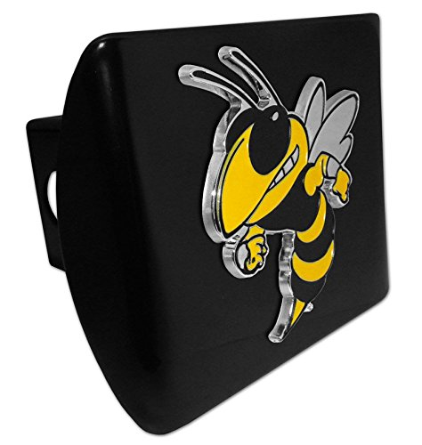 AMG Georgia Tech Buzz Mascot Metal on Black Metal Hitch Cover