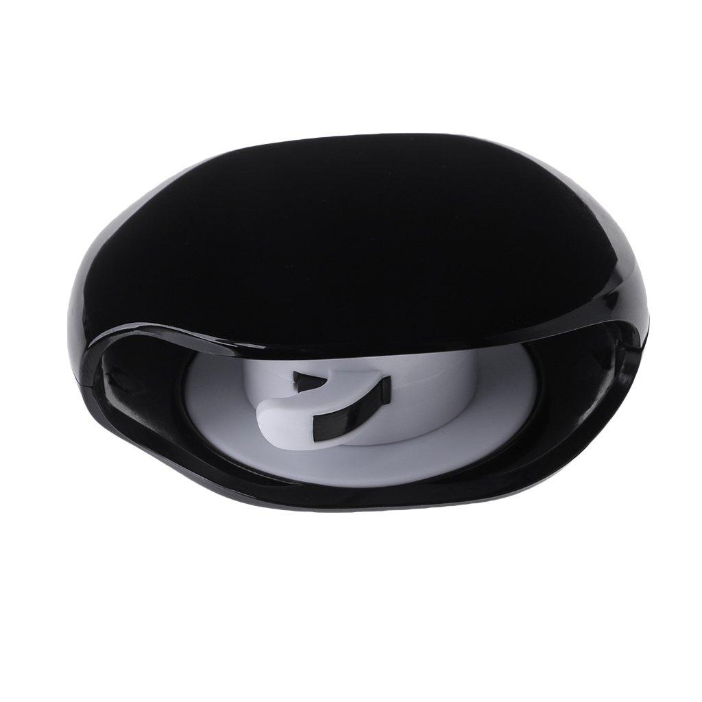 Forgun 2018 Super Cord Tangle Free Portable Manager New Black White Colors (Black)