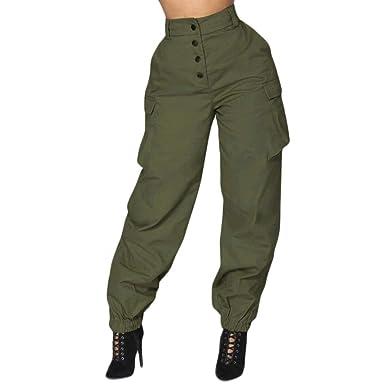 ef3f1b4cf8a Pantalons Jogging Femme Printemps Automne Longues Pantalons Fashion Vintage  Pantalon De Loisirs Uni Manche avec Poches