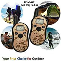 Little Boys Durable Kids Walkie Talkies, Long Range Military Camo 2 Way Radio, Best Boys Electronic Toy Ideal Rosh Hashana Gifts for Kids Spy Games, Outdoor Camping, Hunting, Hiking Activities