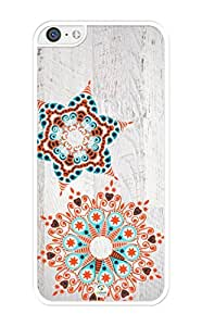 iZERCASE Stars on Wood Pattern Rubber iPhone 5C Case - Fits iPhone 5C T-Mobile, AT&T, Sprint, Verizon and International