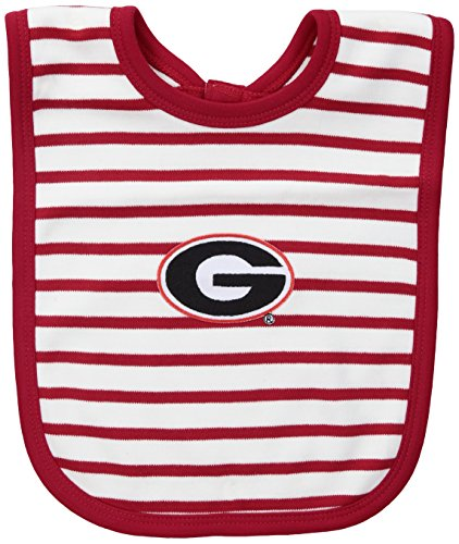 Bulldogs Infant Bib (NCAA Georgia Bulldogs Infant Stripe Knit Bib, One Size, Red/White)