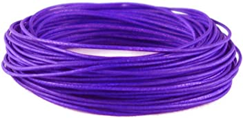 Cords Genuine Round Leather For Bracelet Neckacle Beading Jewelry Making 10 meter purple