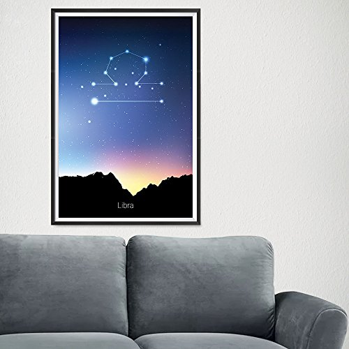 EzPosterPrints Zodiac Signs, Horoscope Constellations Posters - Poster Printing - Wall Art Print for Home Office Decor - Libra - 16X24 inches