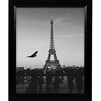craig frames 7171610bk 14 by 22 inch poster frame wood grain finish 825 inch wide solid black