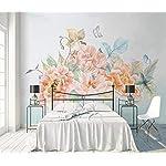 LIWALLPAPER-Carta-Da-Parati-3D-Fotomurali-Farfalla-Rosa-Floreale-Camera-da-Letto-Decorazione-da-Muro-XXL-Poster-Design-Carta-per-pareti-200cmx140cm