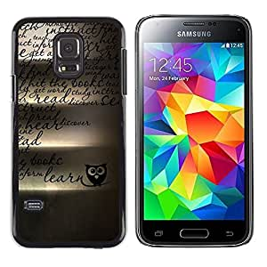 iKiki Tech / Estuche rígido - Owl Teach School Teacher Romantic - Samsung Galaxy S5 Mini, SM-G800, NOT S5 REGULAR!
