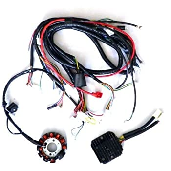 yunshuo performance 11 pole dc magneto stator regulator wiring harness gy6  150 scooter