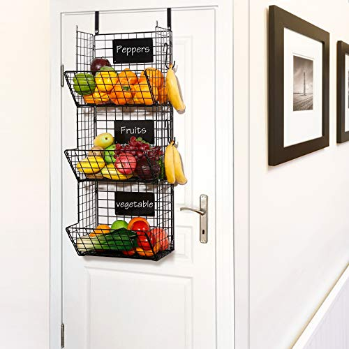 Very attractive, easy to assemble, and hangs on the kitchen door perfectly.