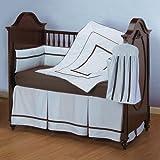 Baby Doll Bedding Hotel Style Crib Bedding Set, Blue