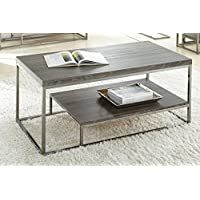 Steve Silver Company Lucia Cocktail Table, 47 x 24 x 20, Grey