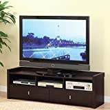 low tv cabinet - ioHOMES Brooks TV Cabinet, 60-Inch, Cappuccino