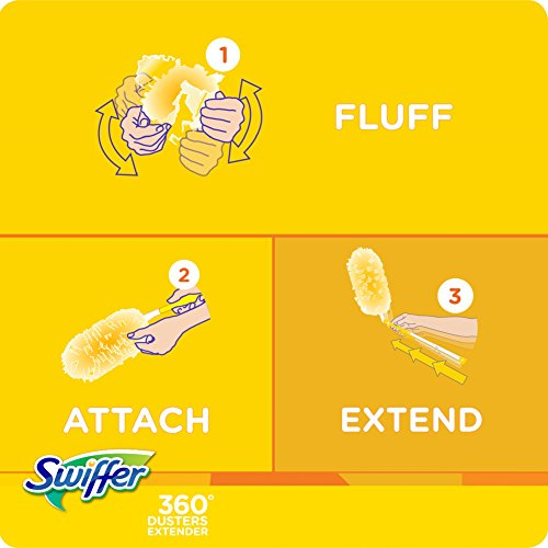 Swiffer 360 Dusters Extendable Handle Starter Kit 3 Count
