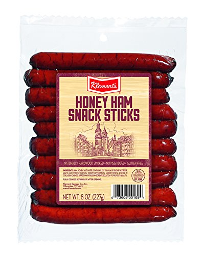 Klement's Ham Sticks, Honey, 8 Ounce