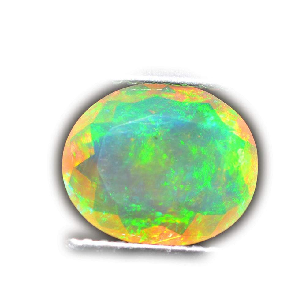 Lovemom 1.92ct Natural Oval Unheated Multi-Color White-Opal Ethiopia #R