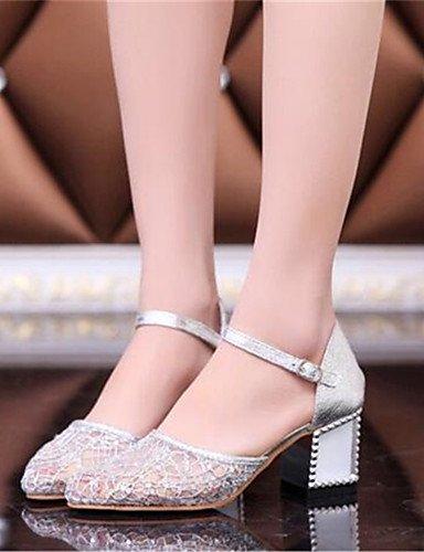BGYHU GGX Damen Schuhe Spitze geschoben Ferse Heels Heels Party Party Party & Abend Kleid Silber Gold 91a999