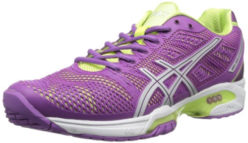ASICS Women's Gel-Solution Speed 2 Clay-W, Grape/Silver/Sharp Green 9 M -