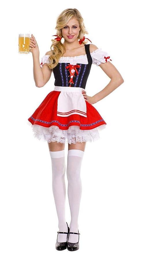 Aeromdale Disfraces de Oktoberfest para Mujer Vestido de ...