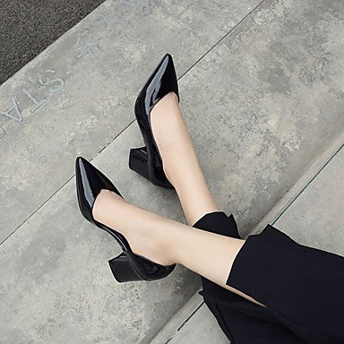 Décontracté 7 Cuir Semelles 5 à Noir cm à Gros Femme Rouge Verni 5 Légères Talons 9 Talon LvYuan Semelles Chaussures Marche Légères Blanc Eté black ggx v701vqHw
