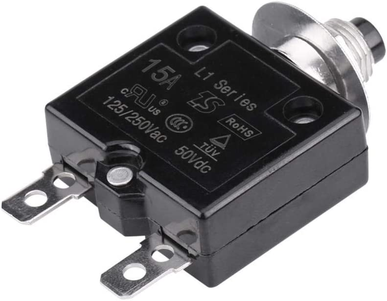 5A 5A Manual Reset Thermal Switch Circuit Breaker Over Current Overload Protector Circuit Breaker