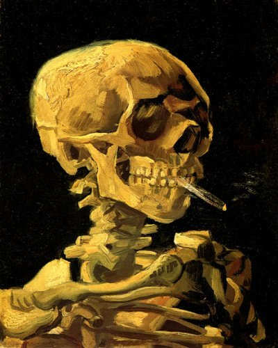 WONDERFULITEMS Skull of A Skeleton with Burning Cigarette by Vincent Van Gogh 16