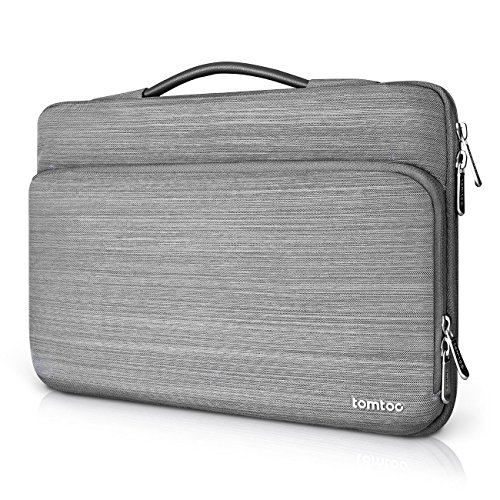 Tomtoc 360° Protective Laptop Sleeve Case Bag for 13 Inch MacBook Pro 2012-2016 Early | 12.9 Inch iPad Pro, Spill-Resistant 13 inch Laptop Briefcase Cover, Gray