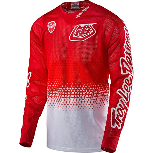 2017 Troy Lee Designs SE Air Starburst Jersey-Red/White-M by Troy Lee Designs