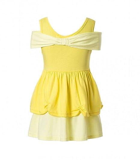 Amazon.com: Disfraz de princesa de Bella para niña Princesa ...