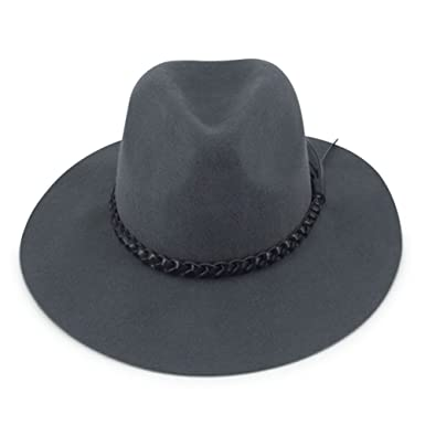 Access Headwear Men s   Women s Wide Brim 100% Wool Felt Fedora Hat ... 719af3639ef