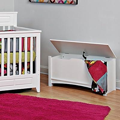 Child Craft Shoal Creek Storage Chest/Toy Chest, White: Baby