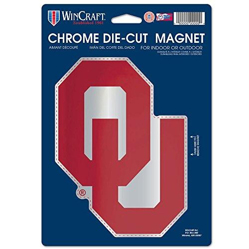 - NCAA Oklahoma Sooners Die Cut Logo Chrome Magnet, 6.25 x 9-Inch