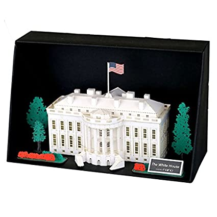 amazon com paper nano white house building kit toys games