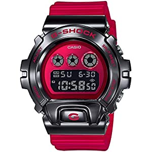Casio G-Shock Men's GM6900B-4 Digital Watch Clear Red
