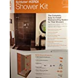 Schluter Kerdi 32-Inch X 60-Inch Off-Center Shower Kit with Stainless Steel Drain by Schluter Systems